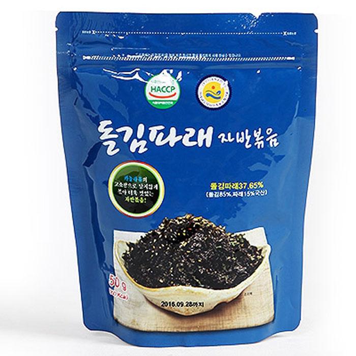 장흥무산김 돌김파래 자반볶음 50g (1팩) 착한김