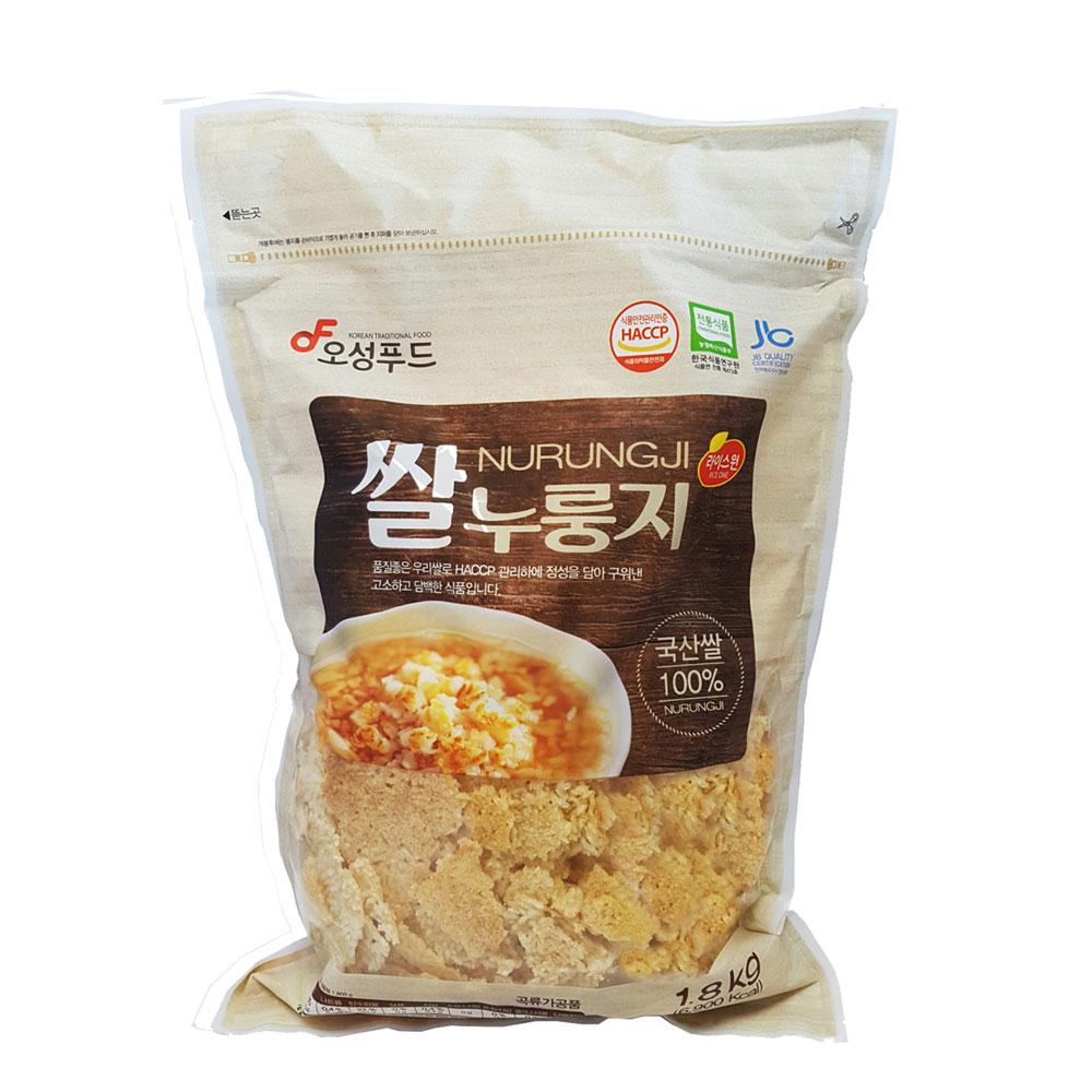 1.8kg 대용량 쌀누룽지 김제평야쌀 전통방식 그대로